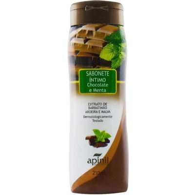 Sabonete Intimo Refrescante Chocolate e Menta - 220 ml - Sex Shop Maçã de Eva