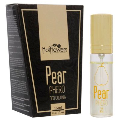 Deo Colônia Feminino Pear Phero Hot Flowers - 15ml - Sex Shop Maçã de Eva