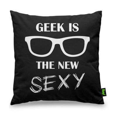 Almofada Geek is the new Sexy - 40 x 40 cm - Loja Geek Maçã de Eva