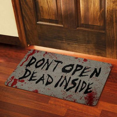 Capacho Eco Slim 3mm Dont Open Dead Inside - 60x40cm - Loja Geek Maçã de Eva