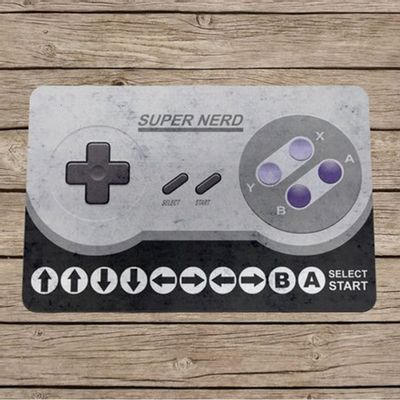 Capacho Eco Slim 3mm Gamer Cheat Code 16-bits - 60x40cm - Loja Geek Maçã de Eva