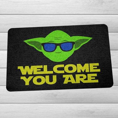 Capacho Eco Slim 3mm Welcome You Are - 60x40cm - Loja Geek Maçã de Eva