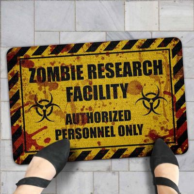 Capacho Eco Slim 3mm Zombie Research Facility - Blood - 60x40cm - Loja Geek Maçã de Eva