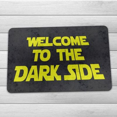 Capacho Ecológico Welcome to the Dark Side - 60x40cm - Loja Geek Maçã de Eva