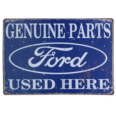 Placa de Metal Ford Genuine Parts - 30 x 20 cm - Loja Geek Maçã de Eva