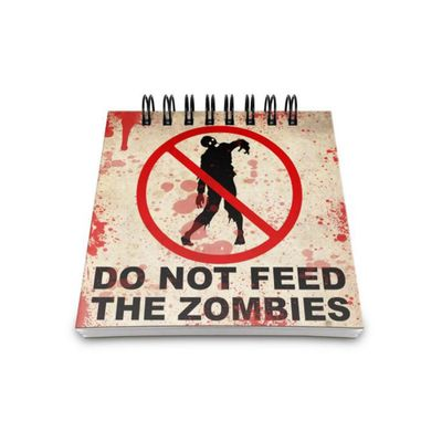 Bloco de Anotações Do not feed the Zombies - Loja Geek Maçã de Eva