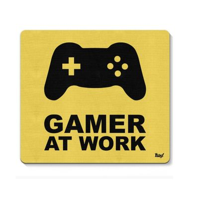 Mouse pad Gamer at Work - Loja Geek Maça de Eva