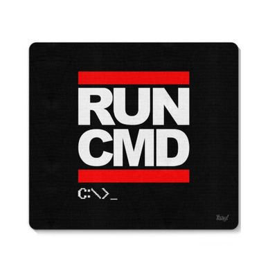 Mouse pad Hacker Run CMD - Loja Geek Maça de Eva