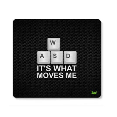Mouse pad PC Gamer WASD Its What Moves Me - Loja Geek Maça de Eva