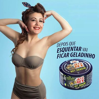 Jato Sex Hot Dragon Pomada Esquenta e Esfria 7g - Sex Shop Maçã de Eva
