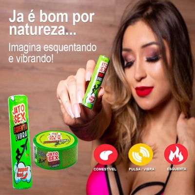 Kit Jato Sex Hot - Gel Esquenta e Vibra - Sex Shop Maçã de Eva