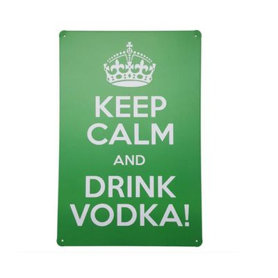 placa-de-metal-decorativa-keep-calm-drink-vodka