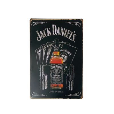 placa-de-metal-whisky-jack-daniels-are-better-30-x-20-cm